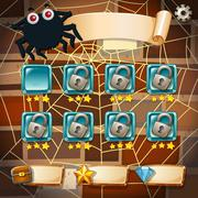Screensaver of halloween theme game Stock Illustration