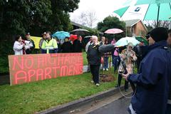 No Highrise Apartment Sign at Boronia Protests Kuvituskuvat
