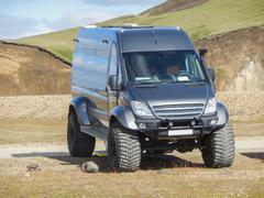 off-road transporter in Iceland - stock photo