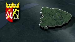 Eastern Finland with Coat of arms animation map Stock Footage