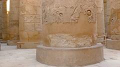 Stock Video Footage of columns in karnak temple with hieroglyphics, 4k
