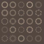 Guilloche vector elements. Stock Illustration