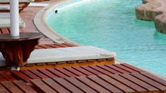 Fragment of nice luxury swimming pool Stock Footage