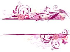 Floral background with ornament Stock Illustration
