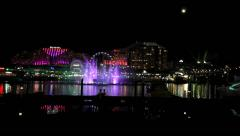 Darling harbour fireworks time lapse - stock footage