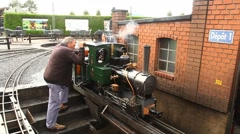 Toy train miniature Shed Stock Footage