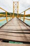 Small bridge in indonesia - stock photo