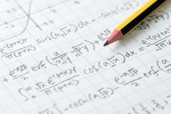 Mathematics and engineering formula Stock Photos