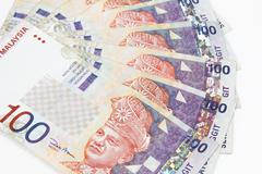 Malaysia Currency in white background Stock Photos