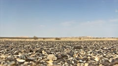 A view of a Dry Desert Plain in Israel Stock Footage