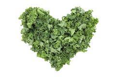 Shredded kale in a heart shape Stock Photos