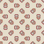 Backpack seamless pattern Piirros
