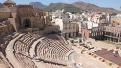 Famous Amphitheater Romano in Cartagena, Spain - stock footage