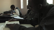 Stock Video Footage of Man Studys in College class at Kitwe, Zambia