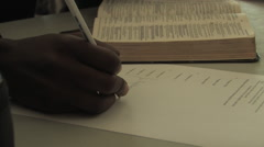 Studying the Bible in Kitwe, Zambia Stock Footage