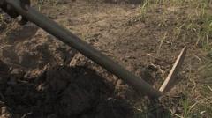 Zambian Yard Work Stock Footage
