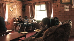 Childrens Village Living Room in Kitwe, Zambia Stock Footage