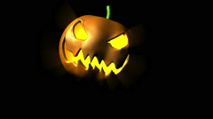 Evil Laughing Halloween Pumpkin Stock Footage