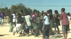 Kids Dancing in Kitwe, Zambia Stock Footage