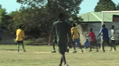 Playing Soccer in Kitwe, Zambia Stock Footage