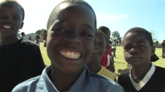 Playing Soccer in Kitwe, Zambia - stock footage