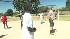 Playing Volleyball in Kitwe, Zambia Stock Footage
