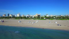 Aerial video Miami Beach sped up Stock Footage