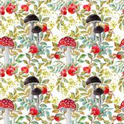 Autumn watercolor pattern Stock Illustration