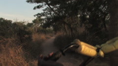 Driving down rural road in Kitwe, Zambia Stock Footage