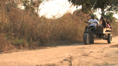 Early Morning Commute in Kitwe, Zambia Stock Footage