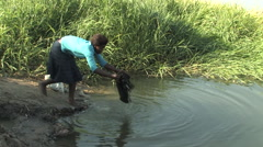 Daily Chores, Zambia Stock Footage