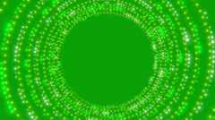 green abstract background, spiral particle, loop - stock footage