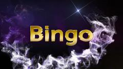 Bingo Gold Text, 4k Stock Footage