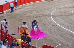 Bullfighting show in La Monumental, Barcelona, Spain - stock photo