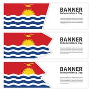 Stock Illustration of Kiribati Flag banners collection independence day