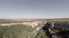 Bakhchisarai. Canyon Chufut-Kale. Move left. Stock Footage
