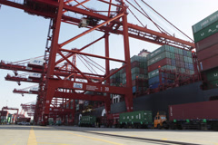 China Seaport Timelapse - stock footage