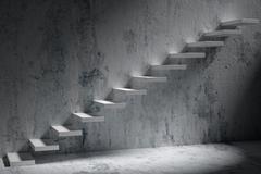 Business rise, forward achievement, progress way, success and hope creative c - stock illustration