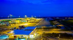 The new Malaysia Airport, Kuala Lumpur International Airport 2 (KLIA2) Stock Footage