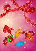 Christmas celebration card Stock Illustration