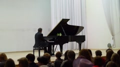 Pianist Vladimir Mishchouk Performs Stock Footage