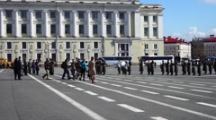 Run-through Before Victory Day Parade Petersburg Stock Footage