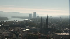 Stock Video Footage of Bonn and the river Rhine. Germany