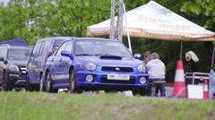 Subaru Impreza on drag race competition 4K Stock Footage