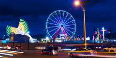 Stock Video Footage of Fairground Rides Timelapse 4K