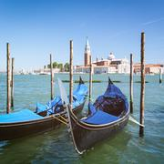Gondola in Venice by Summer - stock photo