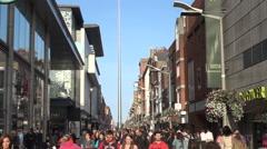 People walking in slow motion Stock Footage