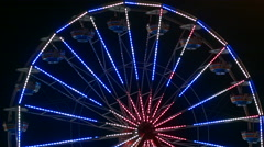 Stock Video Footage of NM State Fair 2015 Midway Ferris Wheel Close
