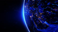 World connections. Middle East. 2 in 1 file. Blue. - stock footage
