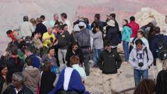 Visitors at Grand Canyon National Park Time-lapse Stock Footage